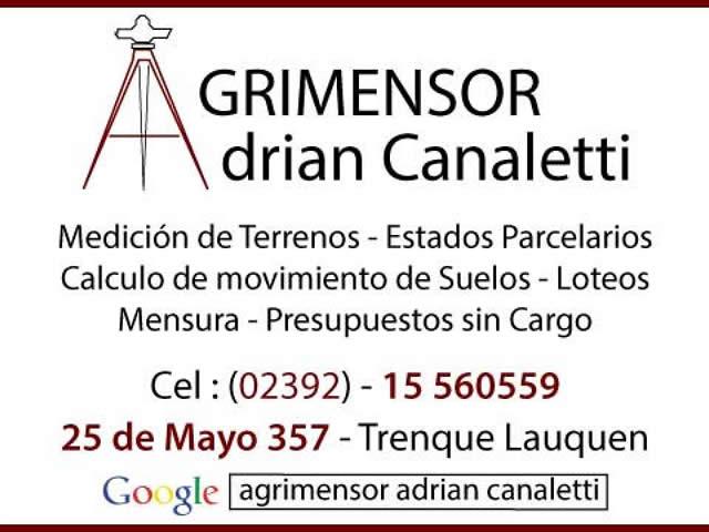 Agrimensor Adrian Canaletti