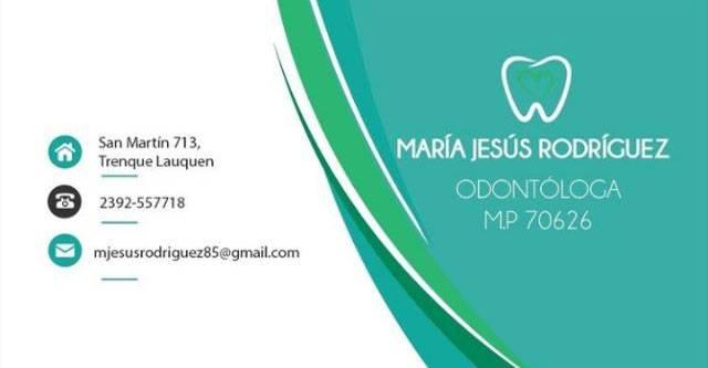 Odontologa María Jesús Rodríguez