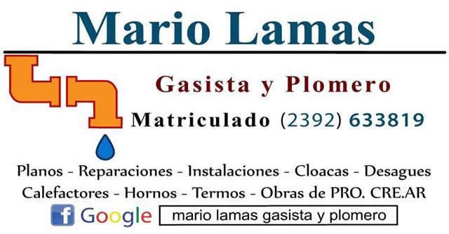 Mario Lamas Gasista y Plomero
